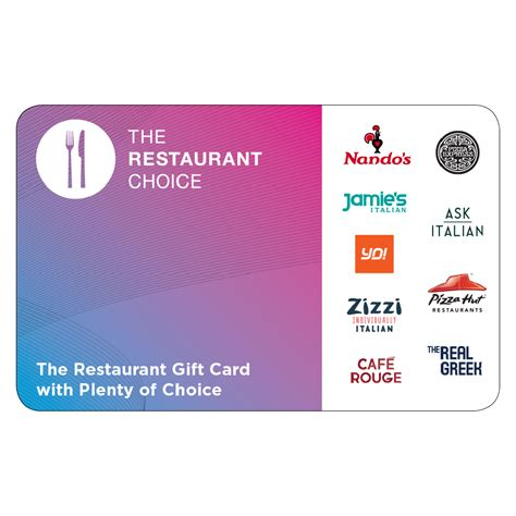 5 Restaurant Gift Card - 163 25 restaurant choice gift card
