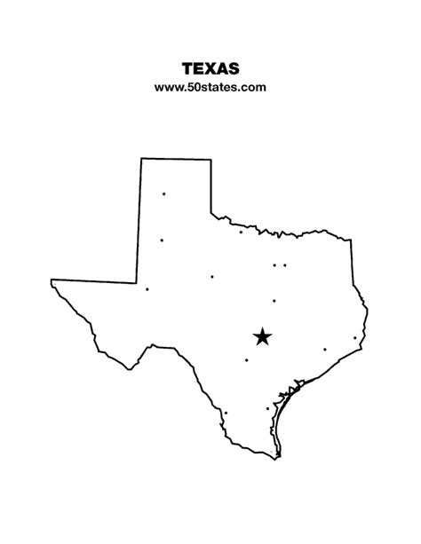map of texas printable texas map