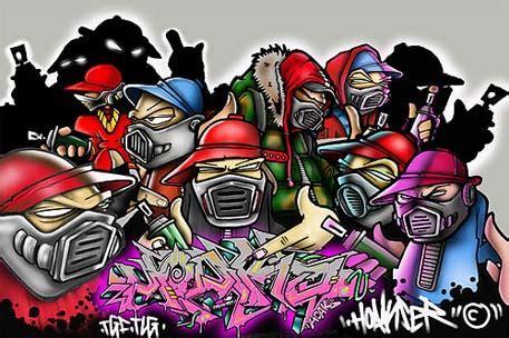 Spongebob Wall Murals graffiti art character of the design face at graffiti art