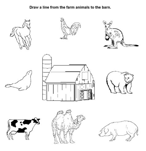 farm animals coloring pages preschool animal farm worksheets worksheets releaseboard free