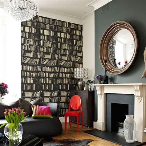 bookshelves wallpaper bookshelf wallpaper wallpaper designs housetohome co uk