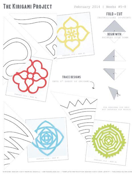 free printable kirigami templates omiyage blogs the kirigami project week eight tribal sun