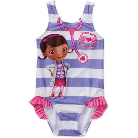 doc mcstuffins toddler girl 1 piece swimsuit walmart.com