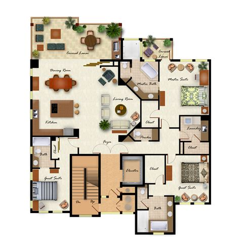 floor plan with furniture kolea condos and homes selection
