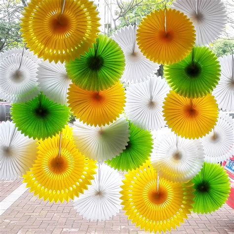 Tissue Paper Flowers Hanging Decoration by Aliexpress Buy 6pcs Lot 30cm Tissue Paper Fan