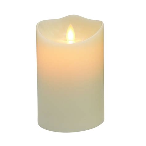 christmas led candle lowes shop allen roth pre lit candle with twinkling white led lights at lowes