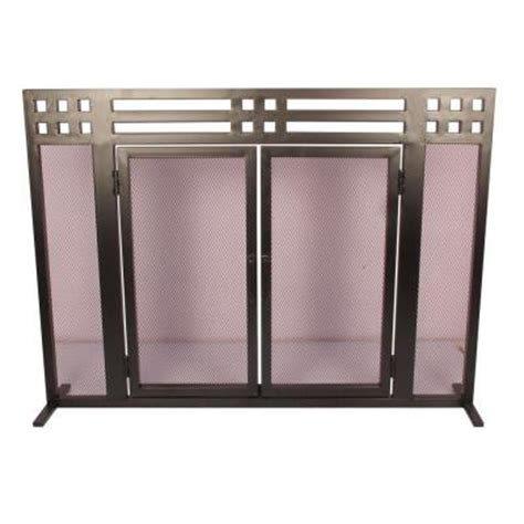 Fireplace Screens At Home Depot by Layton Black Single Panel Fireplace Screen Ds 21018 The