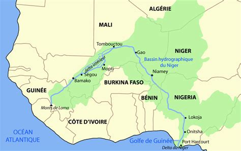 niger river map niger river map