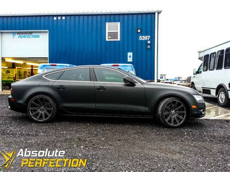 boat wraps maryland matte black audi a7 wrap absolute perfection