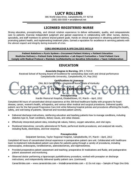 registered resume surgical