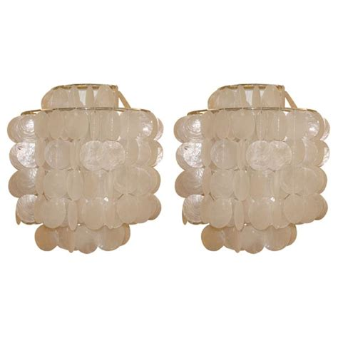 Shell Wall Sconce Capiz Shell Sconce By Gwen Carlton At 1stdibs