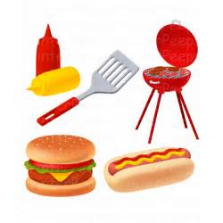 Backyard Bbq Party Supplies Items Similar To Grill Clipart Scrapbook Pack Digital