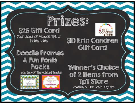 Rafflecopter Giveaway Linky - first grade fairytales ten pin linky reading ideas giveaway reminder