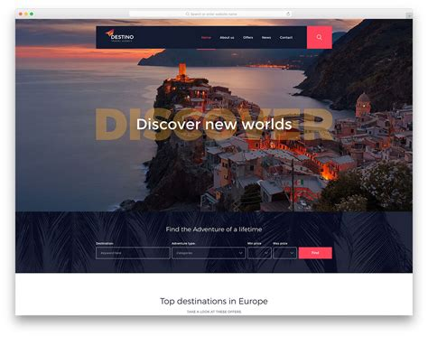 26 Best Free Travel Website Templates 2019 Colorlib Flight School Website Template