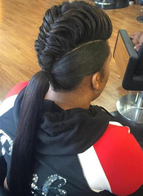 human hair ponytail with goddess braid 60 inspiring exles of goddess braids mohawks black