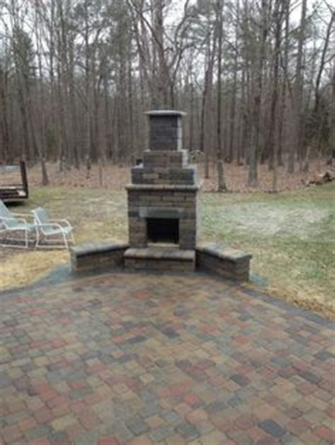 general shale fireplace kit pavestone paver patio pit and seat walls with