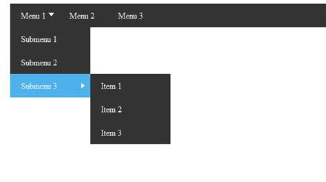 membuat menu dropdown bertingkat cara membuat multilevel dropdown menu dengan css3