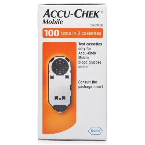 Accu Mobil Fb accu chek mobile 100 tests in 2 cassettes pharmacy 4 less