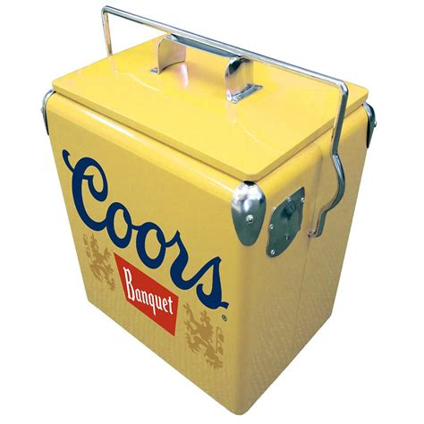 Koolatron 13 L Stainless Steel Coors Banquet Vintage Ice