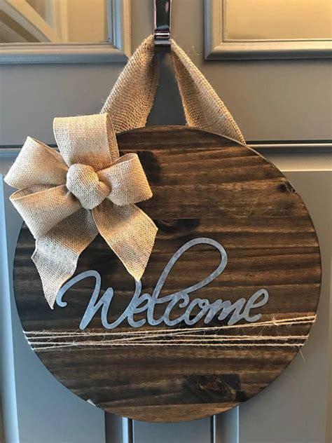 door hanger housewarming gift front door sign