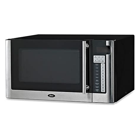 microwave bed bath and beyond buy oster 174 1 1 cubic foot digital microwave oven from bed