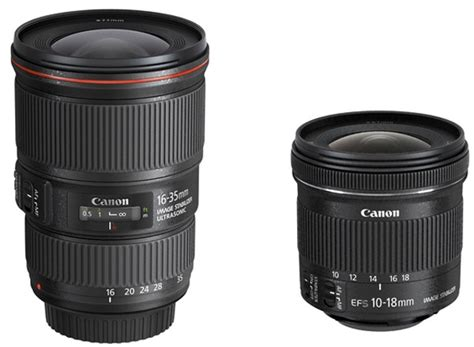 Lensa Canon Wide 10 18mm canon ultra wide angle zoom lenses launched