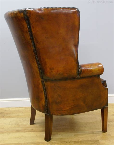barrel style back chair a georgian style barrel back wing chair antiques atlas