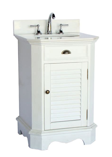 White Cottage Bathroom Vanity Adelina 24 Inch Cottage White Finish Bathroom Vanity