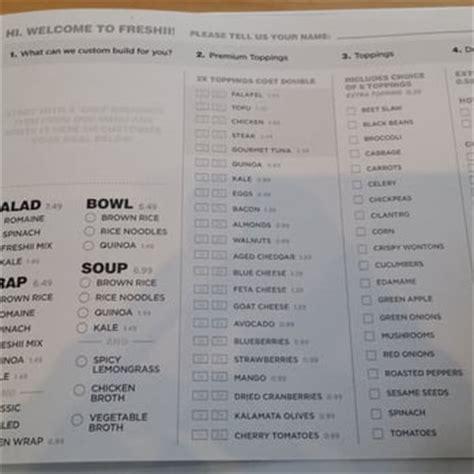 menu design vancouver freshii 51 photos 59 reviews salad 870 w cordova