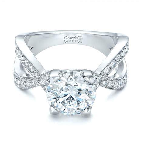 custom platinum and engagement ring 102065