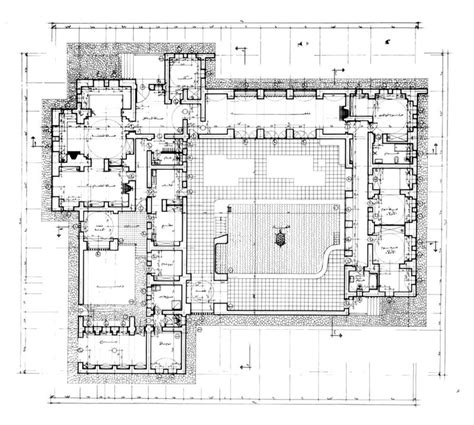 working drawing floor plan murad ghaleb house working drawing ground floor plan
