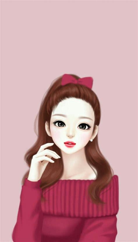 wallpaper cute korean girl cartoon cute korean cartoon girl images wallpaper sportstle