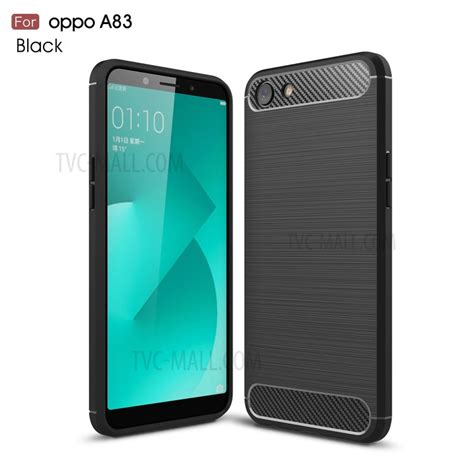 Oppo A83 Black carbon fibre brushed tpu for oppo a83 black tvc
