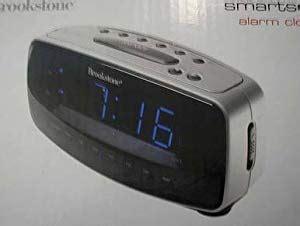 brookstone smartset am fm alarm clock radio electronic travel clocks