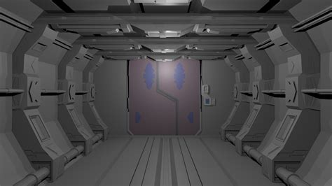 Star Wars Decor wip couloir de vaisseau spatial blender par lehrse