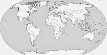 World Political Outline Map Free by Blank World Political Map