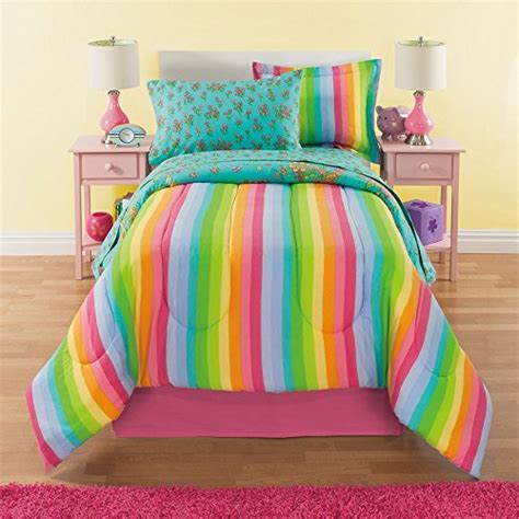 rainbow comforter twin 6 piece girls unicorn rainbow comforter set twin