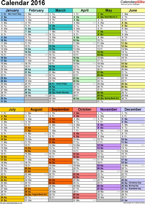calendar 2016 uk 16 free printable pdf templates calendar 2016 uk 16 free printable pdf templates