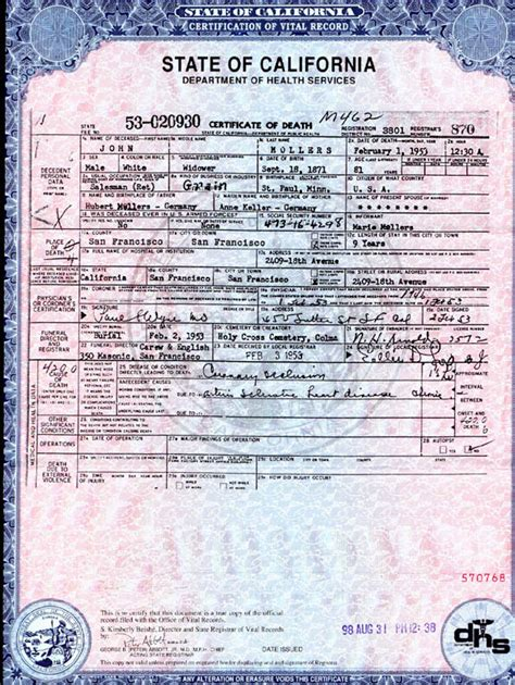 California Vital Records Birth Certificate Application Copy Of Marriage Certificate Los Angeles County Californiadating Free