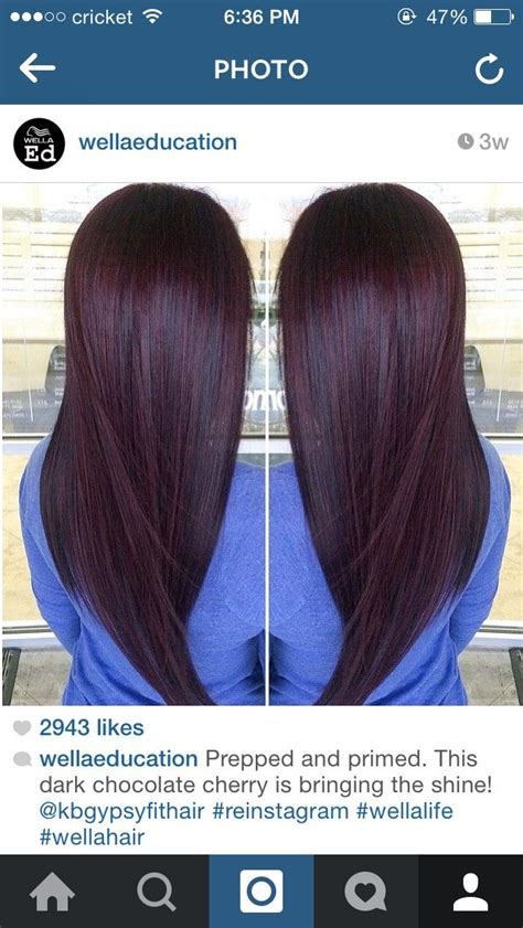 black cherry hair color chart black cherry hair color glam up pinterest hair color