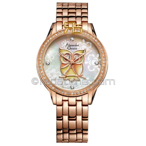 Exclusive Jam Tangan Fashion Wanita Ck Rantai Model Segi Tanggal Aktif Alexandre Christie 2423rglh
