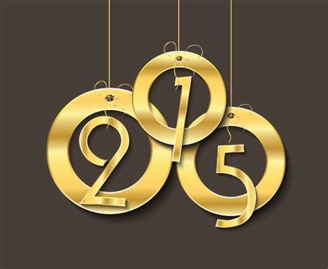 new year golden week 2015 golden creative 2015 new year vector material 03 vector