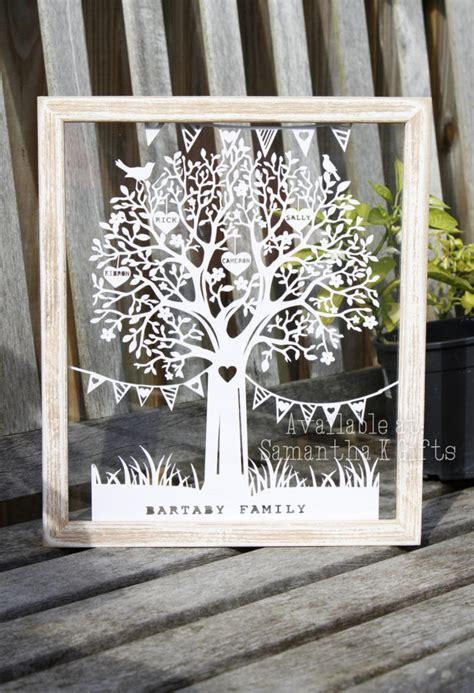 Papercut Family Tree   Personalised   Mothers Day   Paper