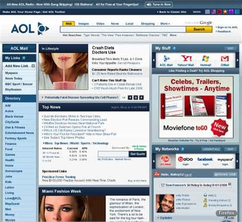 report aol to rev homepage