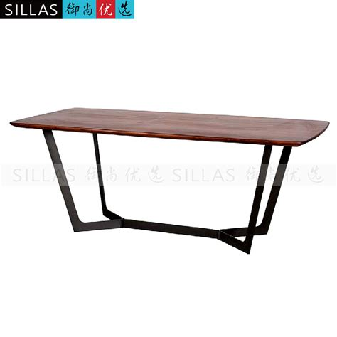 Black And Wood Dining Table Black Walnut Dining Table Two Meters Conference Table
