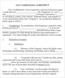 Printable Sample Non Disclosure non compete agreement 7 free pdf doc download