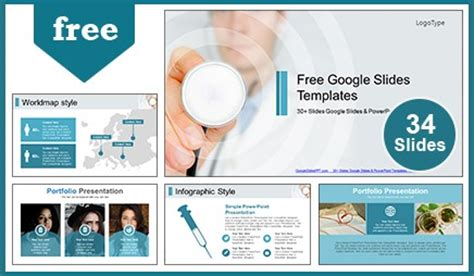layout ppt medical medical doctor with stethoscope google slides themes