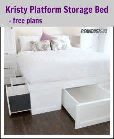Diy Platform Bed With Storage Platform Bed Plans With Storage Furnitureplans