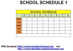Printable School Template by Schedule For School Printable Template September 2012
