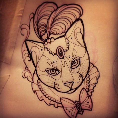 Cat Tattoo Designs Tumblr | 1000 ideas about cat tattoos on pinterest tattoos cat
